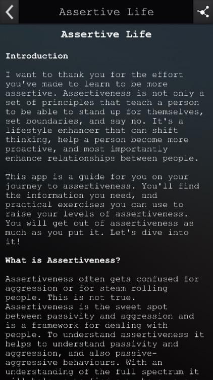 Assertive Life