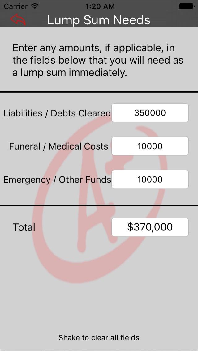 Insurance Needs Calculator-1