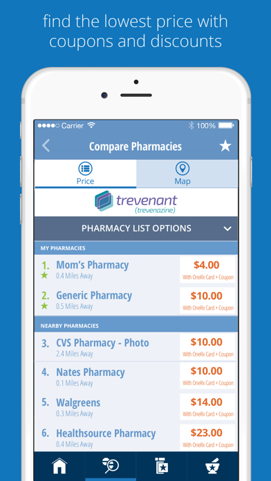 OneRx Prescription Savings Tool screenshot
