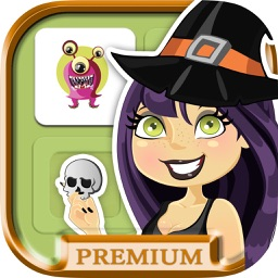 Halloween memory game: Learning game for kids - premium
