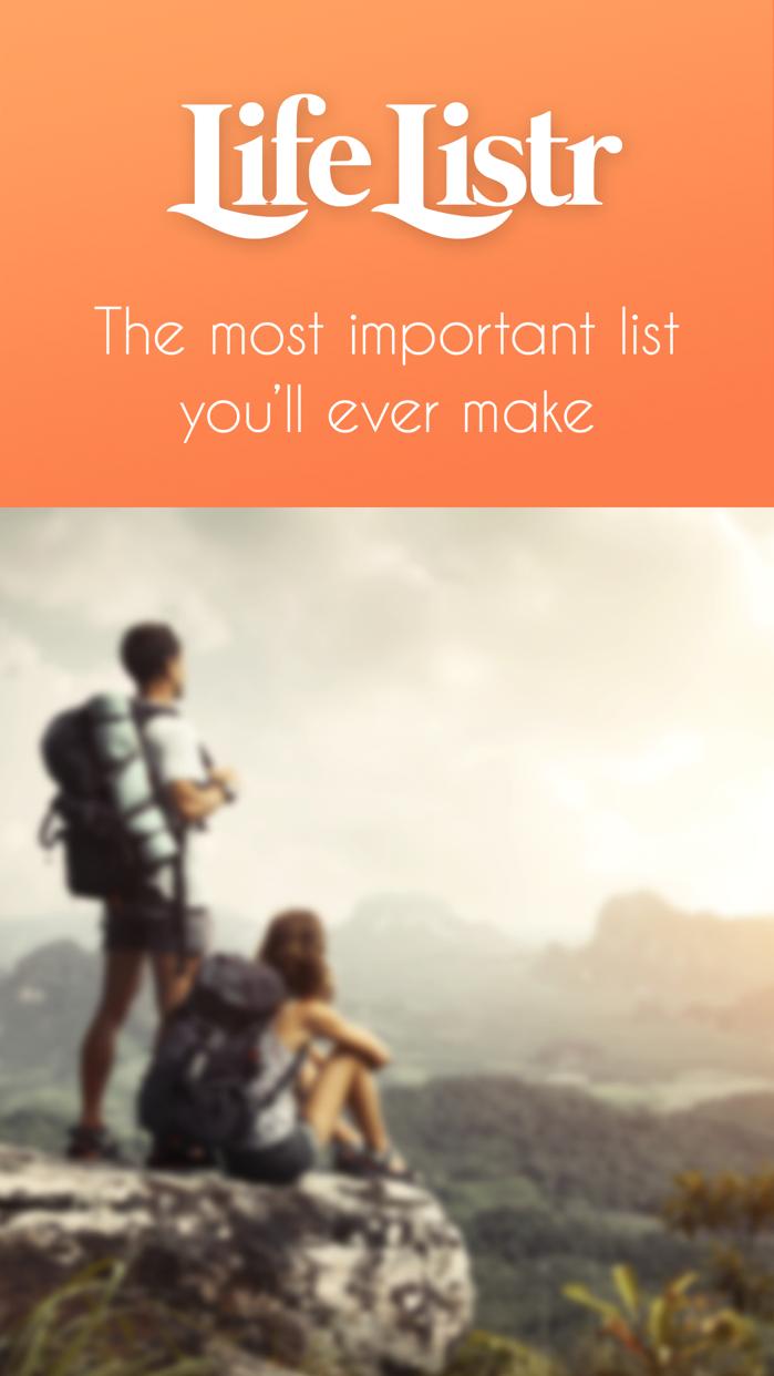 Life Listr - Bucket List Maker Screenshot