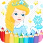 女の子の子供のための無料の王女の人魚着色ページ lite icon
