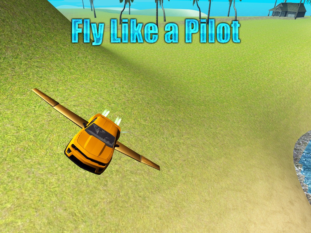 Flying Car Driving Simulator Free: Extreme Muscle Car