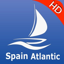 Spain Atlantic nautical Chart HD: marine & lake gps waypoint, route and track for boating cruising fishing yachting sailing diving