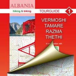 Vermosh, Tamare, Razma, Thethi. Tourist map.