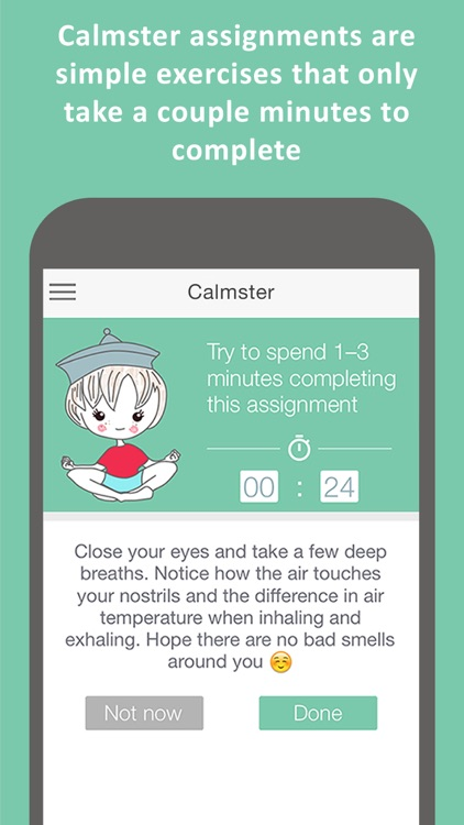 Calmster Pro - Quick Help with Stress, Depression, Anxiety, PTSD, OCD, Panic Attacks and ADHD disorders