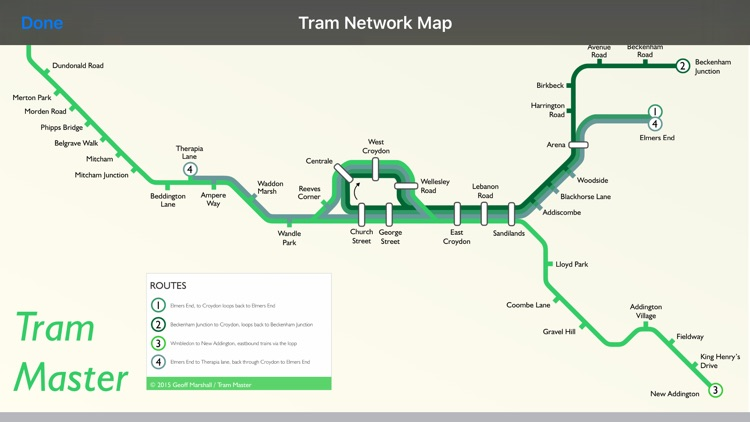 Tram Master - 3D Maps of London's Tram Stops by Station Master
