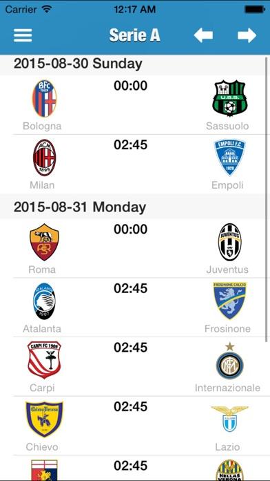 イタリア - セリエ 2015-2016のスクリーンショット2