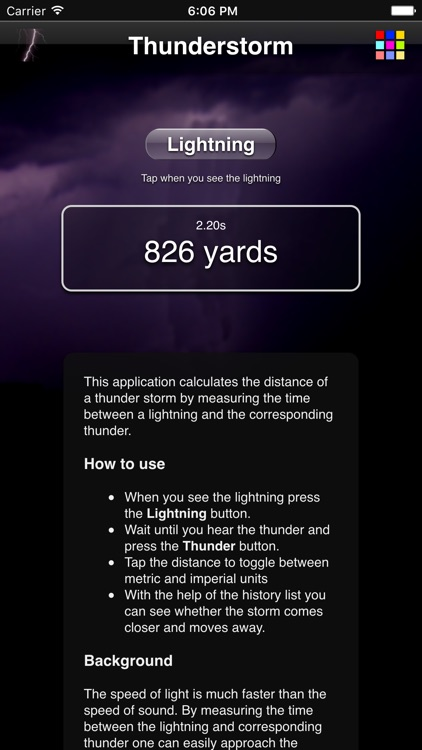 Thunderstorm Calculator