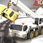 neve do inverno euro motorista de caminhão de despejo 3D icon