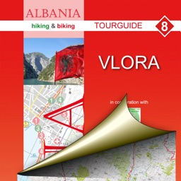 Vlora. Tourist map.