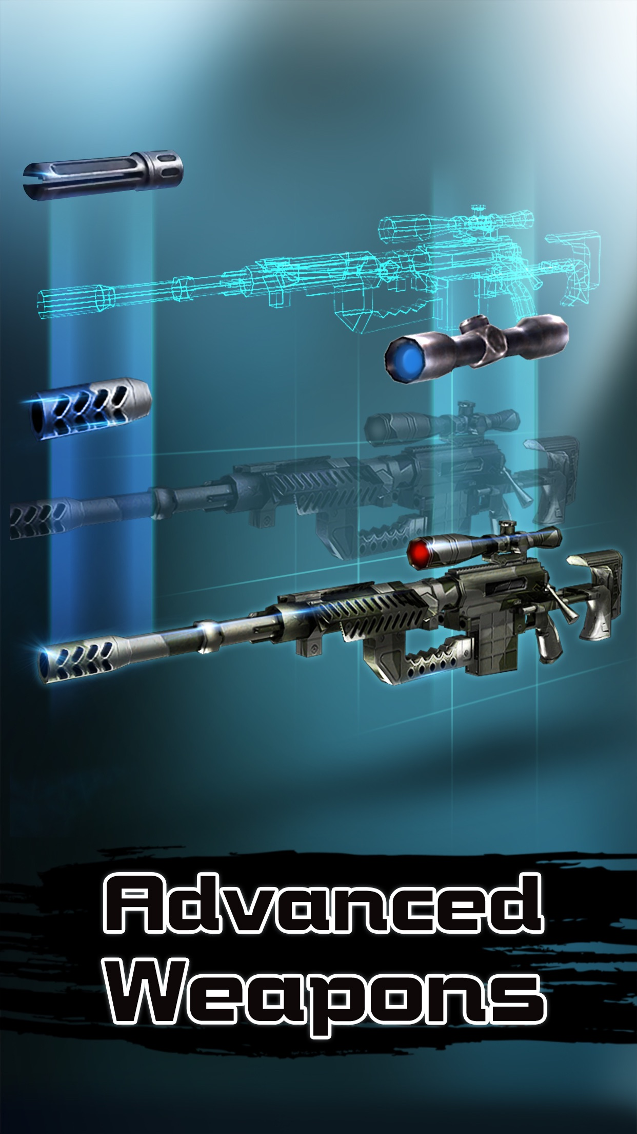 Deadly Sniper hunting: brothers in arms 3D Screenshot
