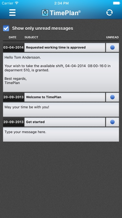 TimePlan Employee App screenshot-4