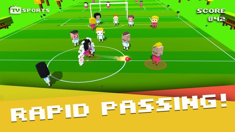 TV Sports Soccer - Endless Blocky Runner