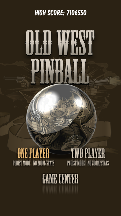 Screenshot from Old West Pinball