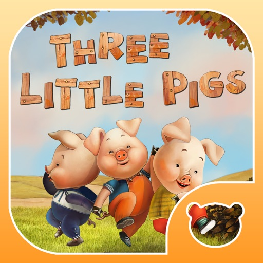 Three Little Pigs Today. Animated book for toddlers.