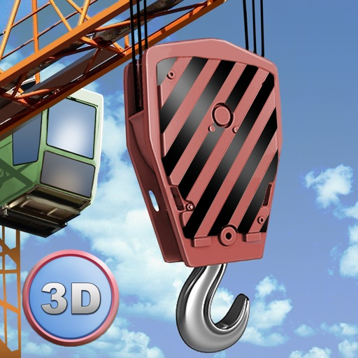 City Tower Crane 3D Simulator - Real city construction icon