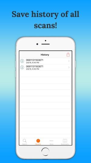 Bar-code scanner on the App Store