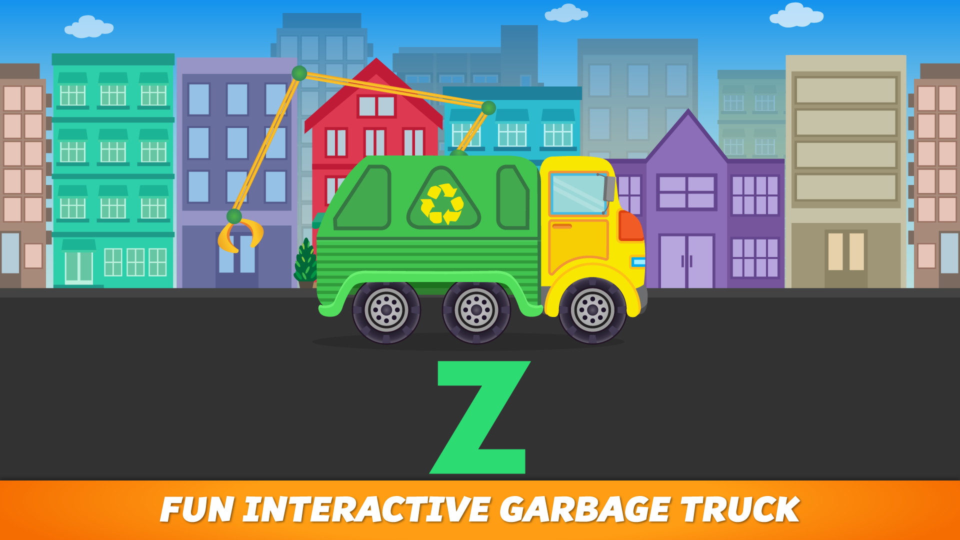 ABC Garbage Truck - Alphabet Fun Game for Preschool Toddler Kids Learning ABCs and Love Trucks and Things That Go screenshot 5