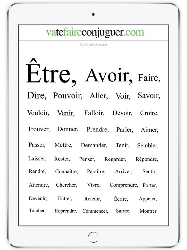 Coniugatore di verbi francesi su app store for Accenti francesi
