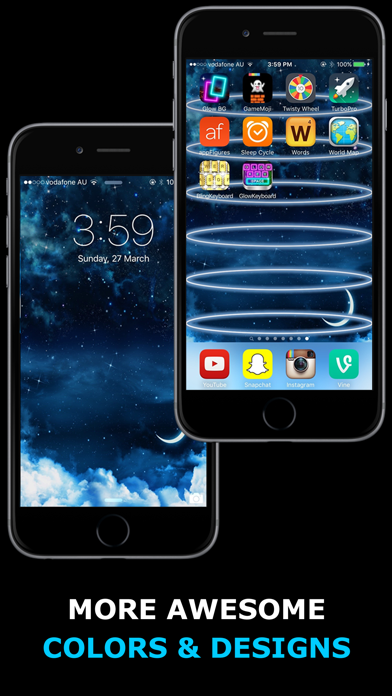 Screenshot for Glow Backgrounds - Wallpapers! in Egypt App Store