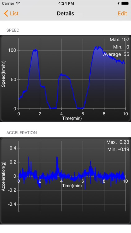 Speedometer Plus - Record distance, speed, acceleration and more... screenshot-4