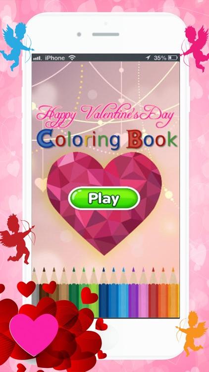 Happy Valentine's Coloring Book