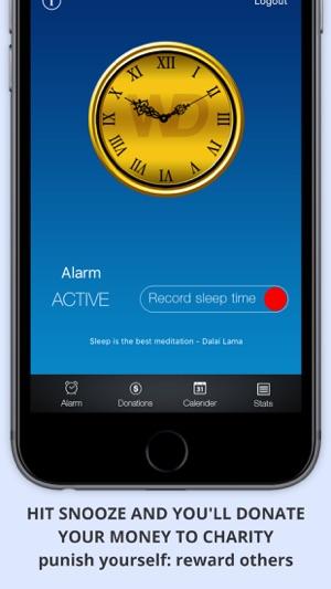 WAKEorDONATE Free AlarmClock. Sleep in for Charity im App Store