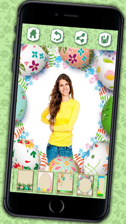 Photo editor of Easter Raster - camera to collage holiday pictures in frames screenshot-1