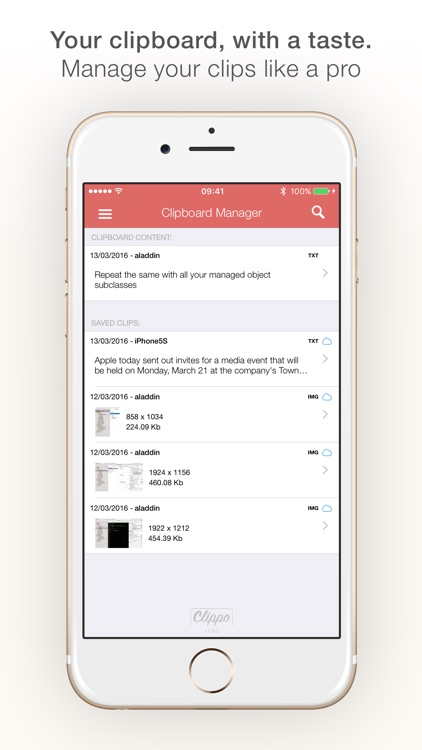 Clippo - Clipboard manager