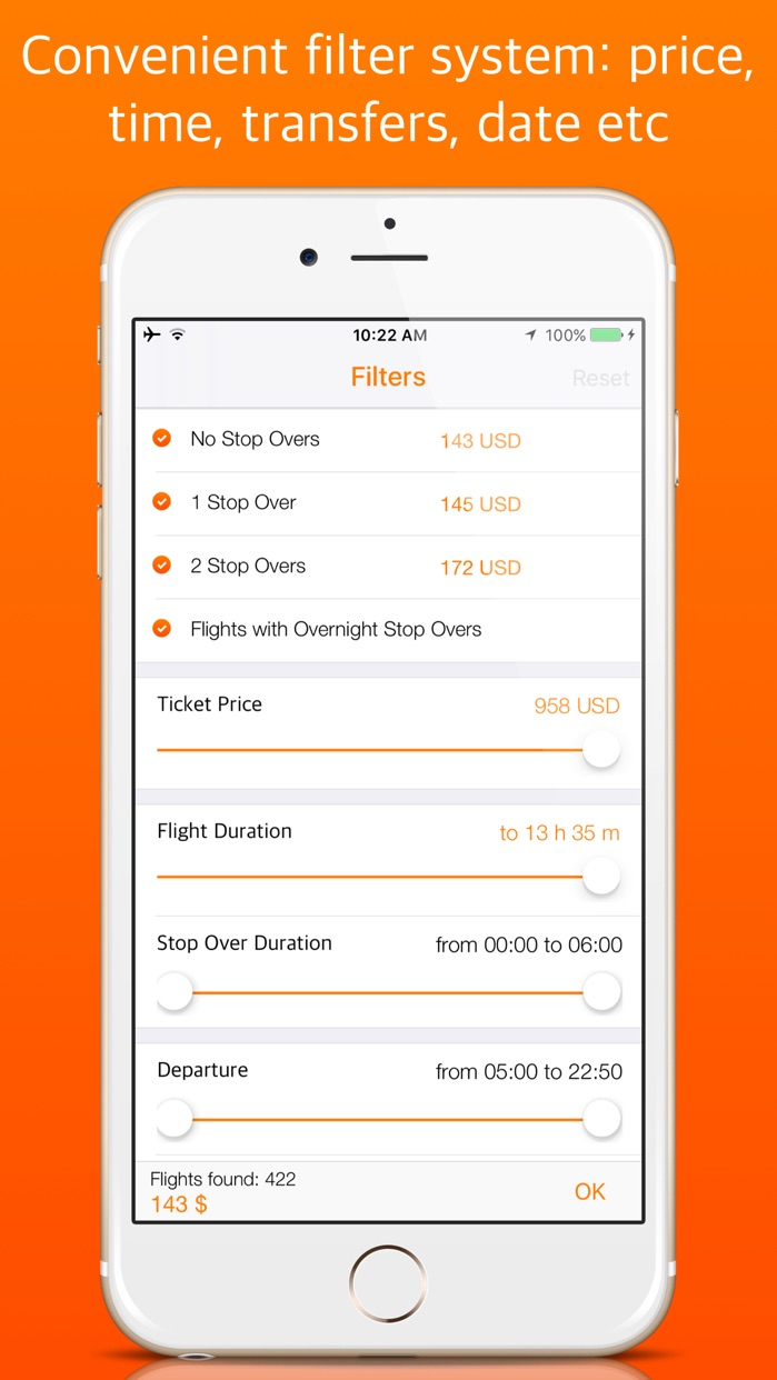 Cheap Flights OK! Quick and easy search of plane tickets. Screenshot