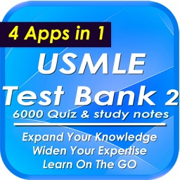 USMLE Test Bank Two: 6000 Quiz & Study Notes
