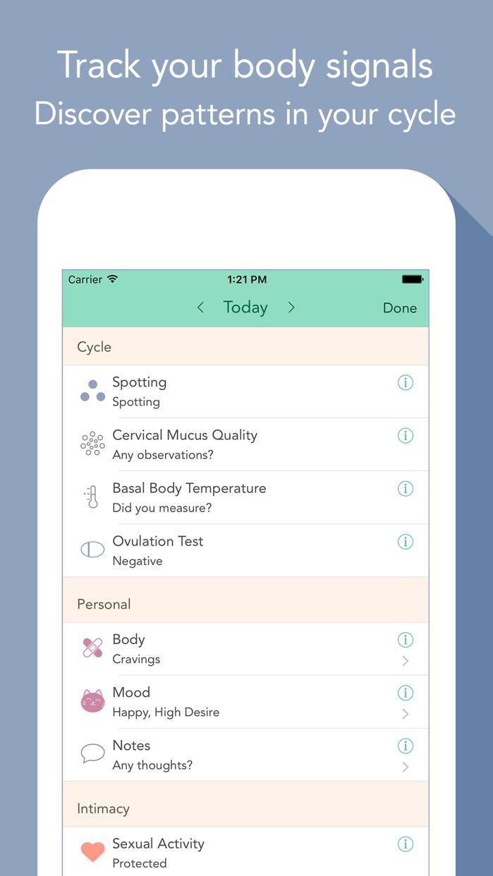 Cycles – Period Tracker Screenshot