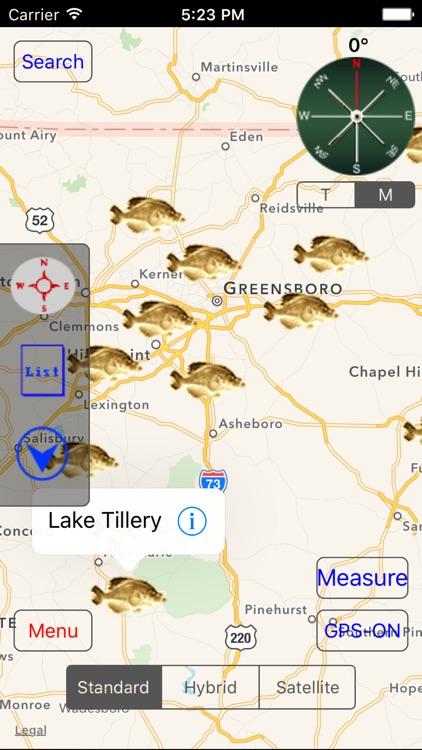North Carolina: Fishing Lakes