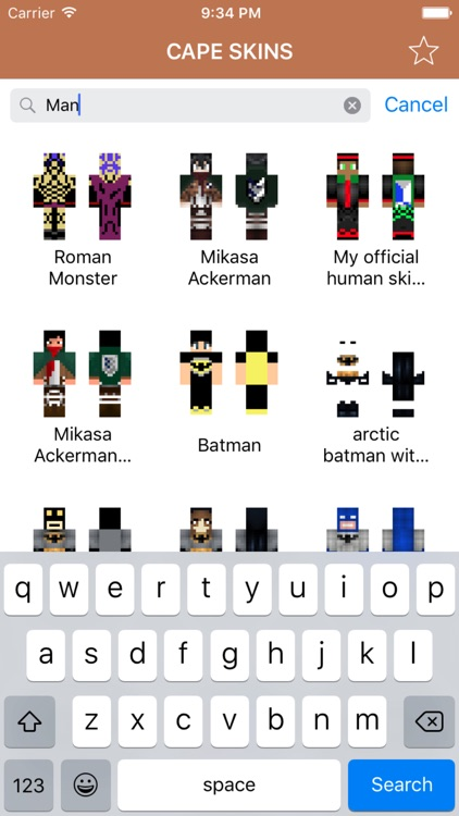 Cape Skins for Minecraft PE (Best Skins with Cape for Pocket Edition)