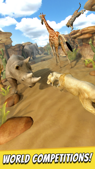 Savanna Run   Free Animal Simulator Games For Children iOS Game