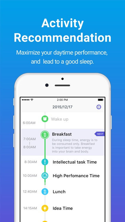 Sleepdays- Alarm clock for better sleep. screenshot-0