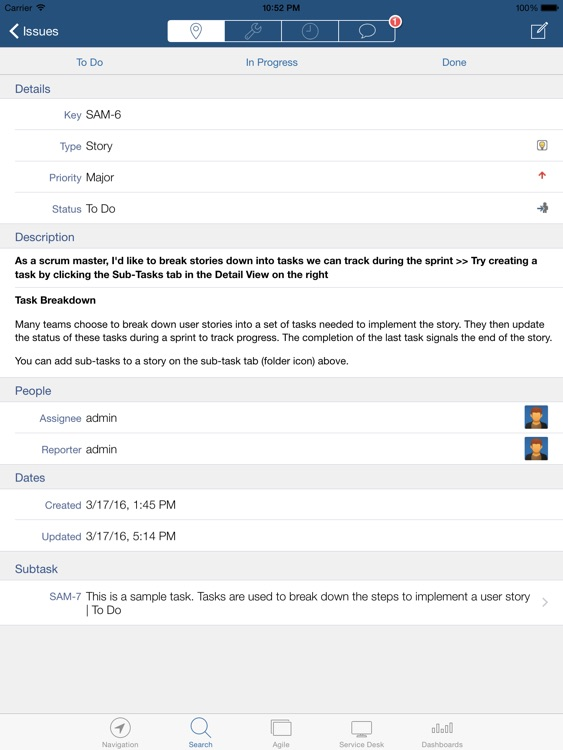 JIRA Connect for iPad screenshot-1