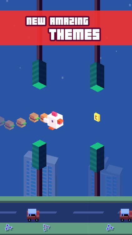 Crossy Tiny Bird Tappy - Sky Surfers Jumping screenshot-3
