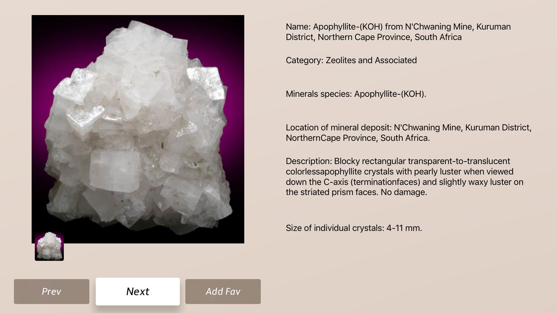 Minerals and Crystals screenshot 19