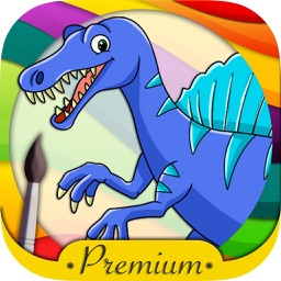 Dinosaurs Coloring book  & Paint the Jurassic - Premium