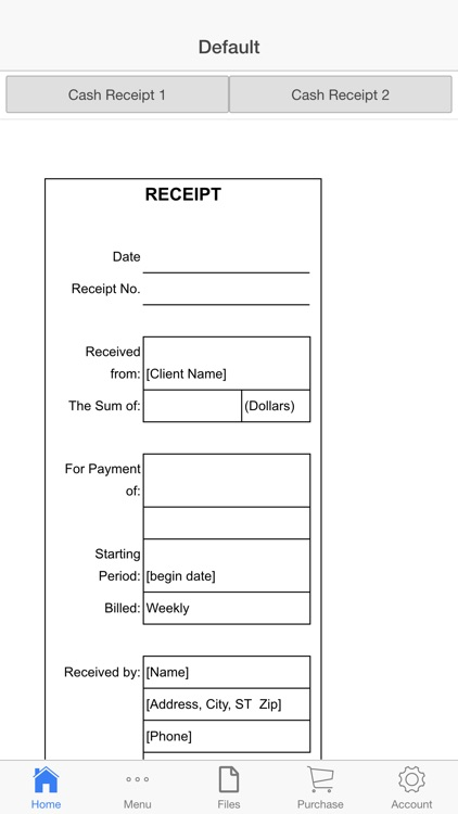 Cash Receipt screenshot-1