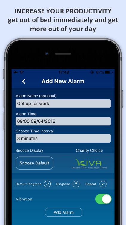 WAKEorDONATE Free AlarmClock. Sleep in for Charity
