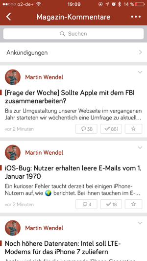 Web-Text-App für das iPhone
