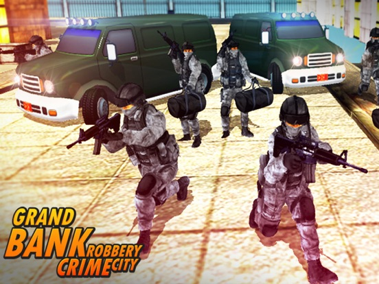 Bank Robbery - crime city police shooting 3D free-ipad-3