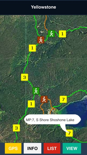 Yellowstone Park Trail and Road Map on the App Store