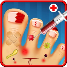 Activities of Crazy Little Monster Toe Nails Virtual Surgery Doctor - Free Fun Kids Hospital Game