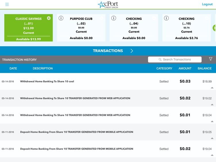 cPort Credit Union for iPad screenshot-3