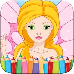 Cocuk Oyunlari Icin Guzellik Peri Prenses Boyama Kitabi Cizim App