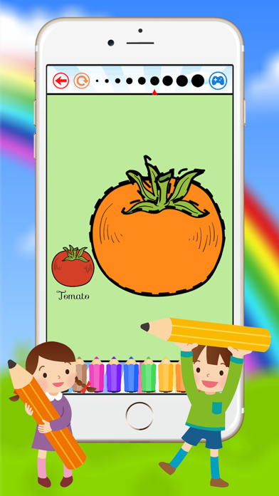 Vegetable & Fruit Coloring Book - Drawing Connect dots kids screenshot four